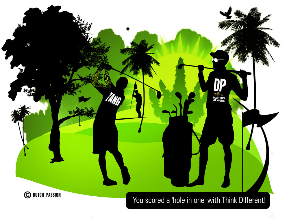 score a hole in one with Think Different